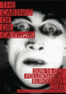 The Cabinet of Dr Caligari flyer Oct 11