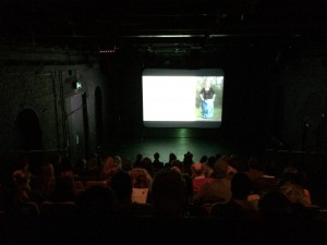 audience watching short films 2 Tramway May 2014