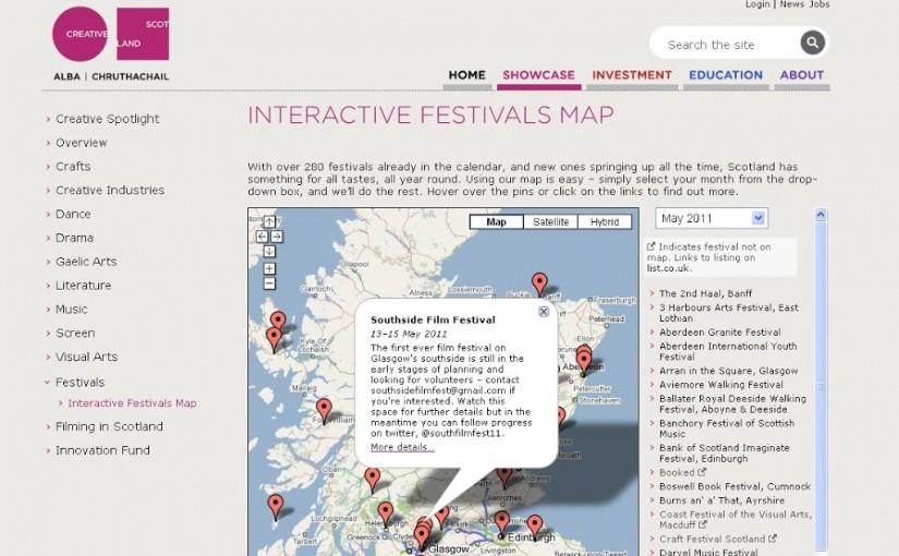 Creative Scotland mention